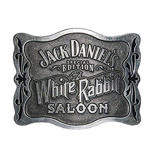 Jack Daniels Buckle - Jack Daniels Special Edition White Rabbit Saloon Belt Buckle