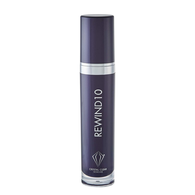 Crystal Clear Rewind 10 - Anti-Aging Moisturizer - Daily Face Moisturizer - Anti Aging Skin Care - Firms and Brightens Skin (60 mL)
