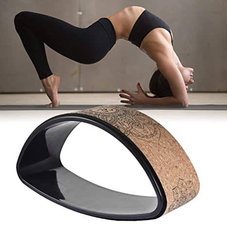 bulrusely Rueda De Yoga Rueda De Yoga De Corcho Natural Rueda De Fitness Resistente, Curva De Espalda Estiramiento De Yoga Anillo De Pilates De ...