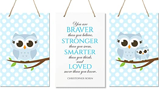 """Nursery LifeSong Milestones Be Strong and Courgeous Joshua 1:9 Wall Decor Decorations Signs for Kids Toddlers Size 8/"""" x 12/"""" Proudly Made in USA Bedroom Baby/'s Boys and Girls Room Blue Hallways"""