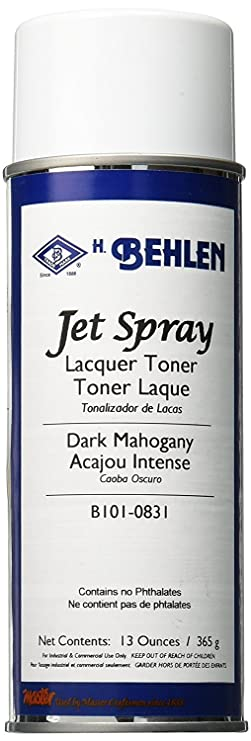 Behlen Jet Spray Lacquer Toner – Dark Mahogany 6-Pack