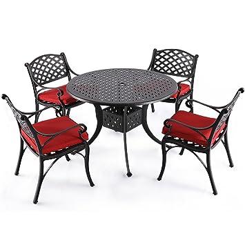 Nuu Garden - Juego de 5 piezas de mesa de comedor de ...