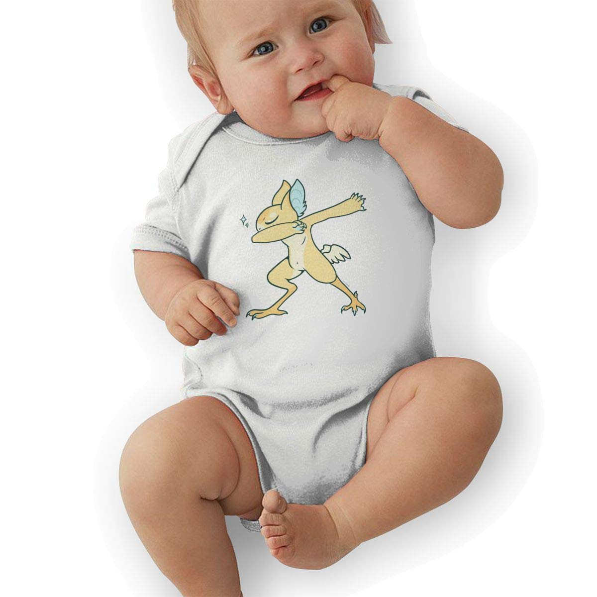 Infant Baby Girls Bodysuit Short-Sleeve Onesie Dragon Pattern Print Rompers Baby Boys