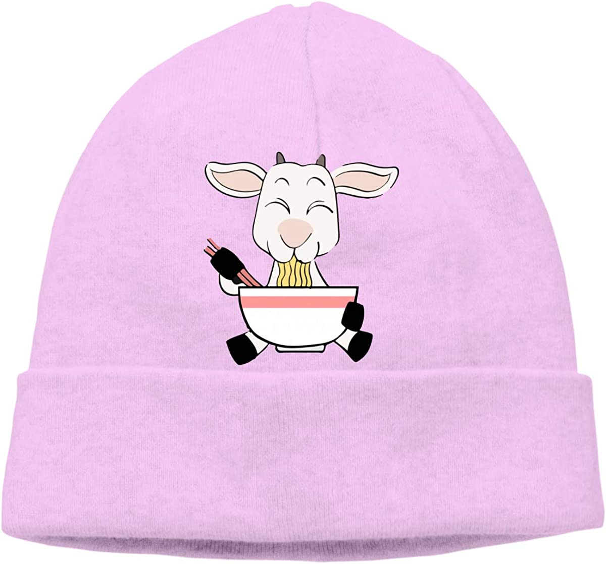 Q10 Mens/&Womens Funny Goat Kawaii Ramen Soft Skull Beanie Cap Soft Hat