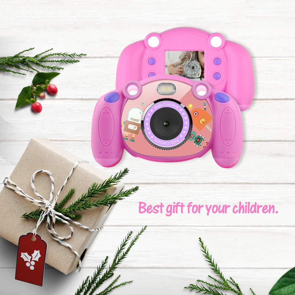 denicer Kids Camera Children Camcorders HD 2 Inch Screen with Mic, SD Card Non-Slip and Anti-Drop Design Children's Camera Taking Videos and Photos for Girls & Boys Birthday Gift by denicer (Image #7)