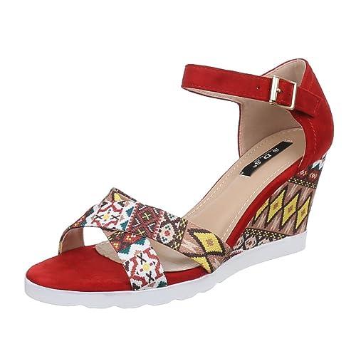 MujerColor Design Eu RojoTalla 38 Sandalias Ital strhQd