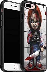 Chucky Scary Doll Horror Silicone Soft iPhone 8 Plus Case (2017) / Designed for iPhone 7 Plus Case (2016) - Black