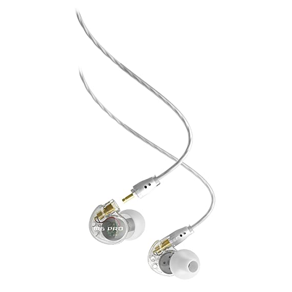 Clear : MEE audio M6 PRO Universal Fit Noise Isolating Musician's In Ear Monitors with Detachable Cables  Clear  Headsets