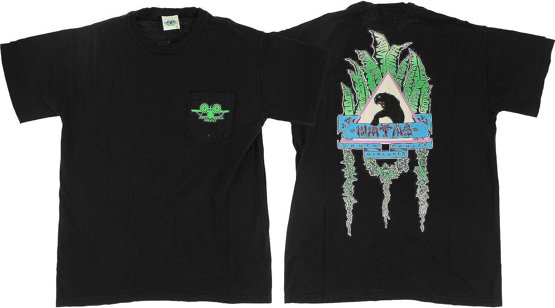 Santa Monica Airlines SMA Natas Leaves Pocket T-Shirt Size Medium Black