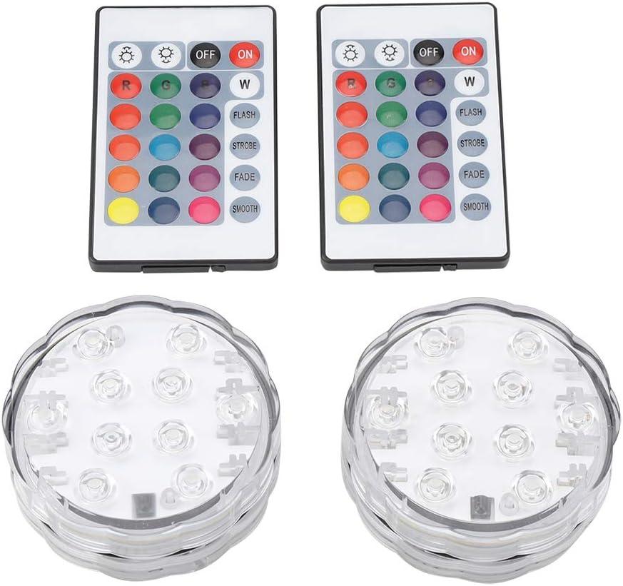 Riuty Luz subacuática Impermeable para Piscinas, luz LED Control Remoto para rocalla, Fuente, Estanque de Peces, etc.: Amazon.es: Hogar