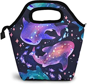 Undersea Whale Shark Lunch Bag Insulated Cooler Lunch Tote Lunch Bags Portable Reusable Lunch Tote for Kids Men Women Warm Pouch for Picnic Travel School Work Office