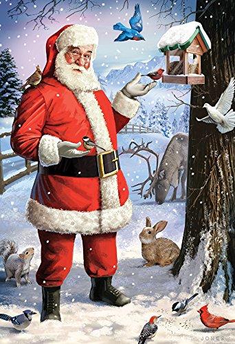 Vermont Christmas Company Santas Little Friends Kids Jigsaw Puzzle 100 Piece