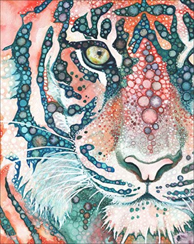 Full Drill DIY 5D Diamond Painting Tiger Cross Stitch Kit Embroidery Art Craft Home Decor K202 25x30cm