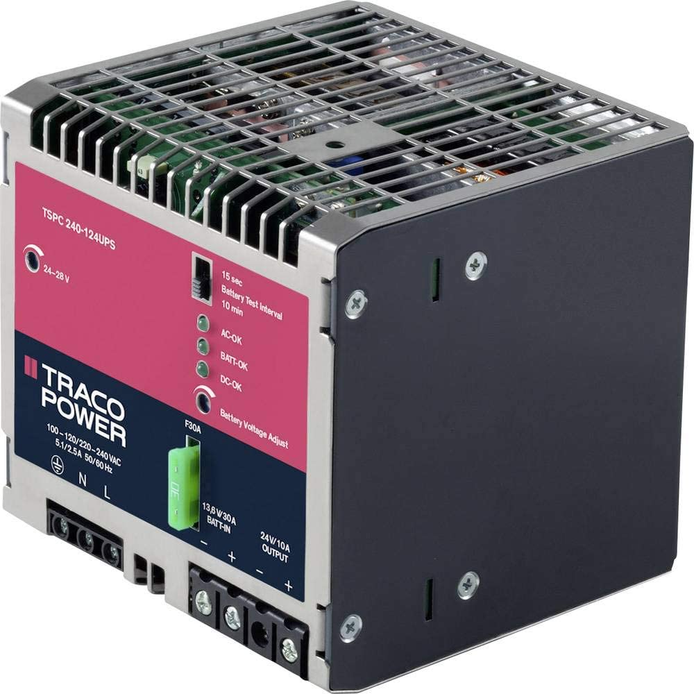 TracoPower TSPC 240-124 UPS Hutschienen-Fuente de alimentación (DIN-Rail) 12A 240W 1 x