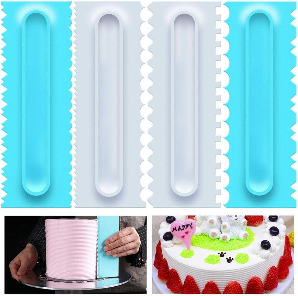 4pcs Triangle Plastic Cookie Cutter Fondant Cutter Mold Cake Decorating Tool ZT