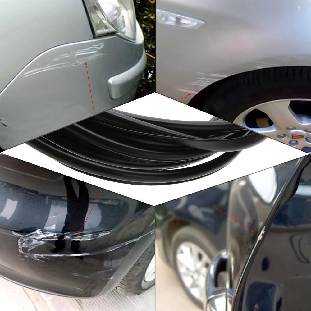 color negro vanpower Cinta adhesiva para puerta de coche antigolpes