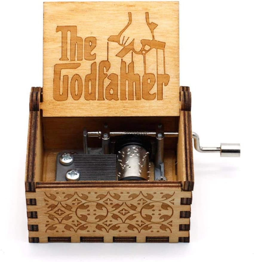 MezzenoAnónimo Caja de música con manivela de Madera David Jones Caja pequeña Tema Caja de música con manivela de Madera, Amarillo: Amazon.es: Hogar