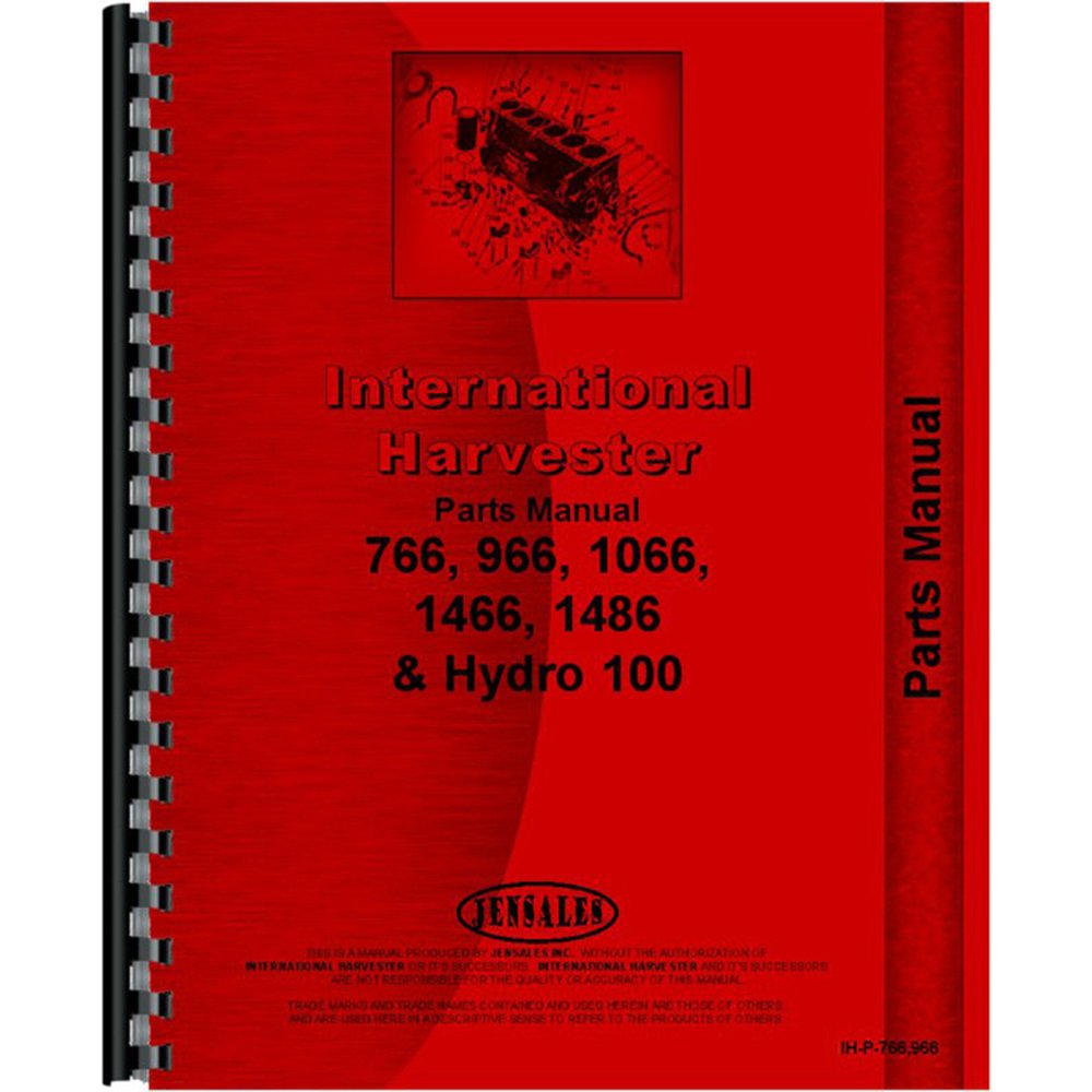 Amazon.com: New Tractor Manual Kit for Case IH Tractor 7666 966 1066 1466  1486 Hydro 100 +: Industrial & Scientific