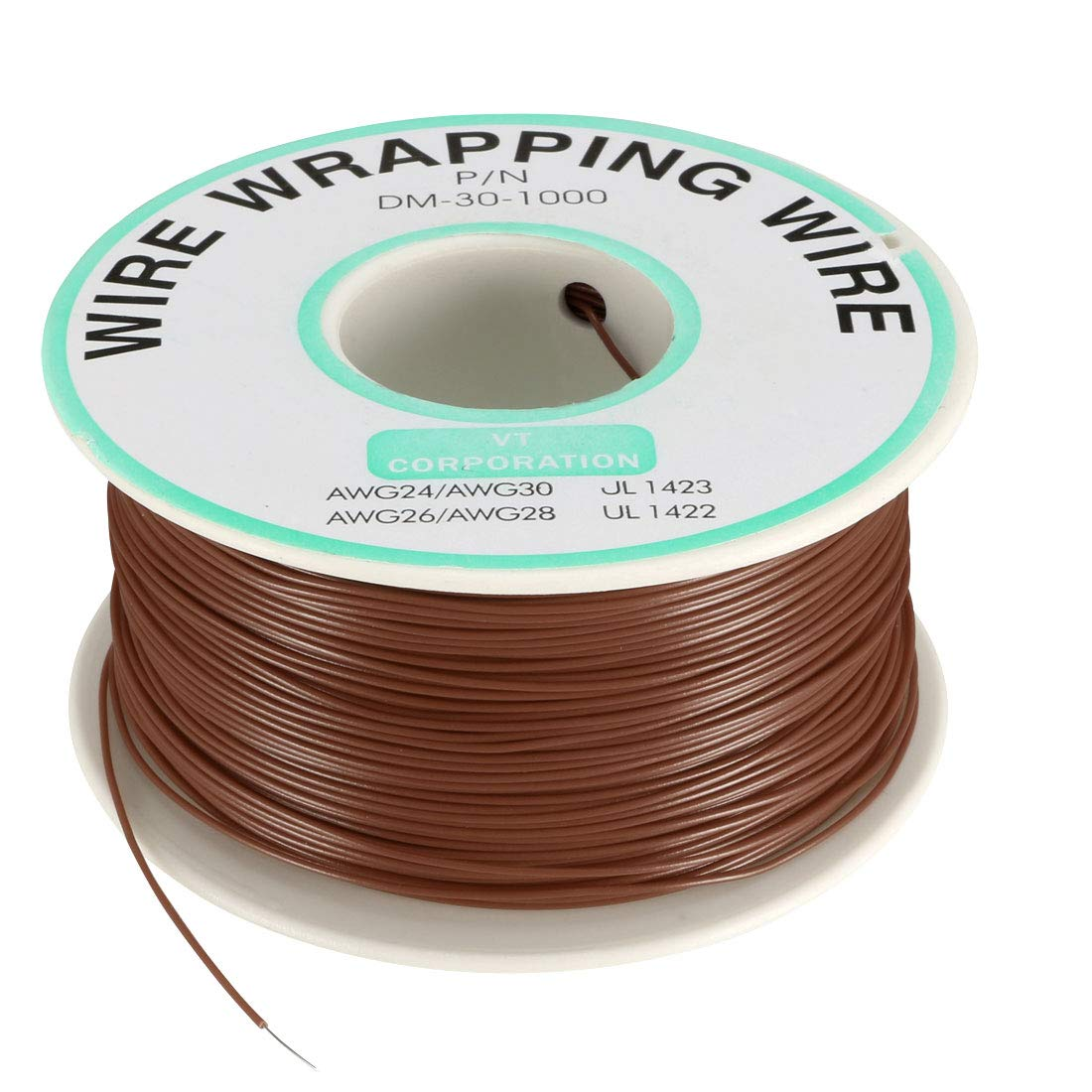 uxcell OK Wire Tin Plated Copper Cord Wire Wrapping P//N DM-30-1000 30 AWG 820ft Length White