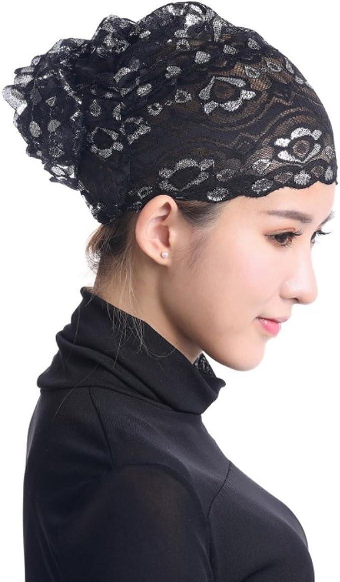 JINTN Damen Muslimische Kopft/ücher Untertuch Hijab Underscarf Cap Kopfschmuck Kopfbedeckung Schal Schlafm/ütze f/ür Haarverlust
