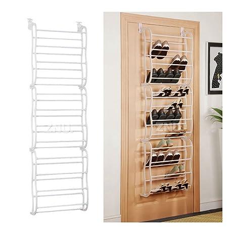 36Pair Over The Door Shoe Rack Organizer Heels Closet Storage System Space  Saver
