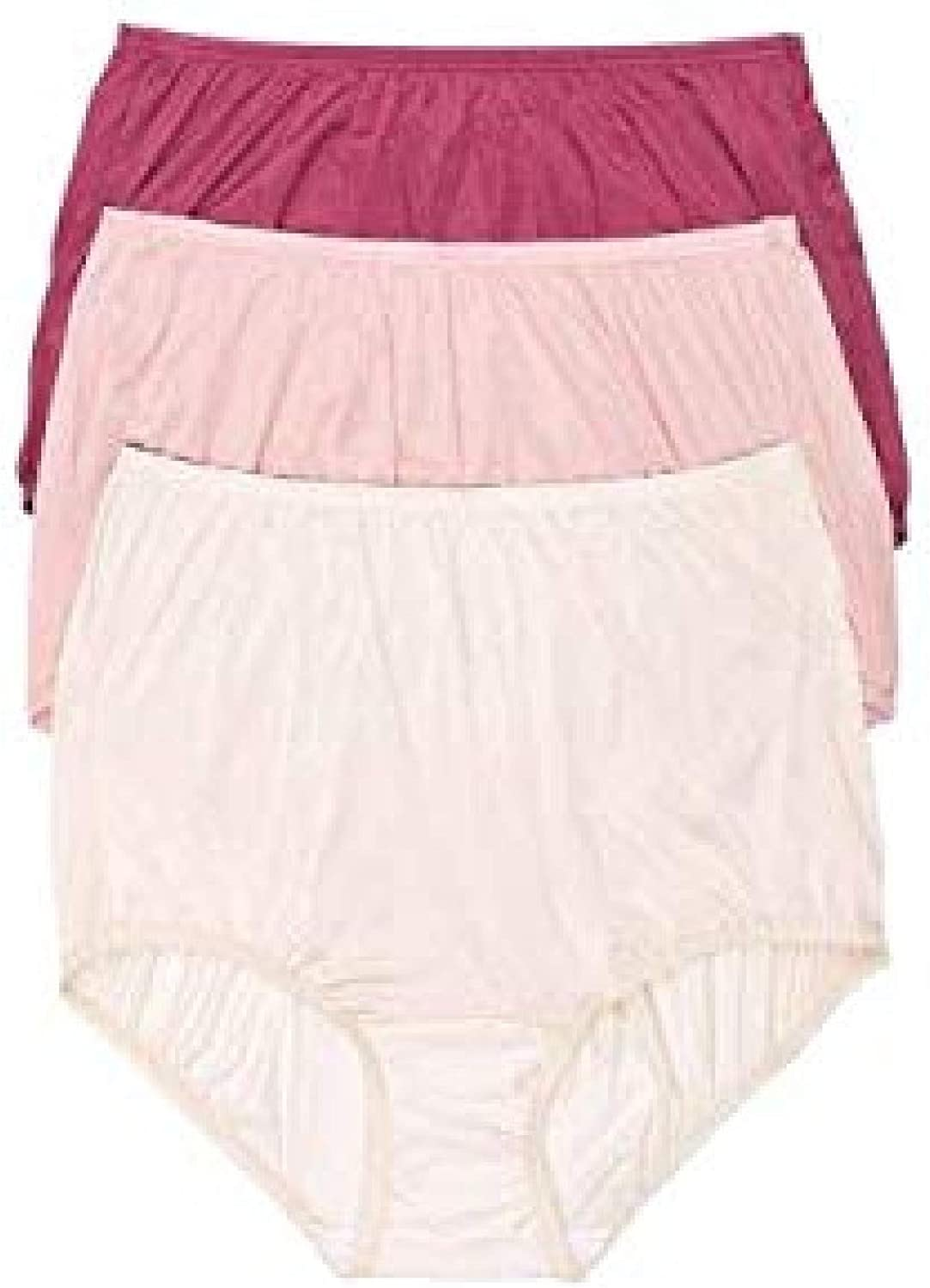 Size 7//L Vanity Fair Classic Ravissant Tailored Brief Pack of 3-15712 Fawn