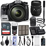 Sony A77II Mirrorless Digital Camera + 16-50mm f/2.8 + Sigma 70-300mm F4-5.6 APO-M DG + Backpack + 64GB SD Card + Kit