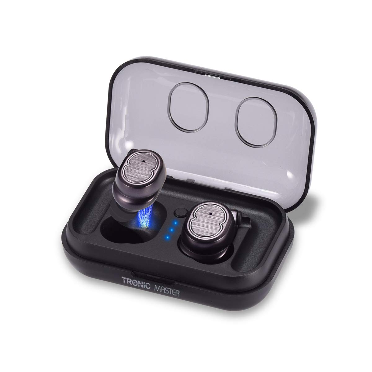 Wireless Earbuds, TronicMaster Bluetooth v5.0 True Wireless Sweatproof Sports Headphones 16H Playtime 3D Stereo Noise Canceling Headsets with Portable Charging Box & Removable Ear Hooks