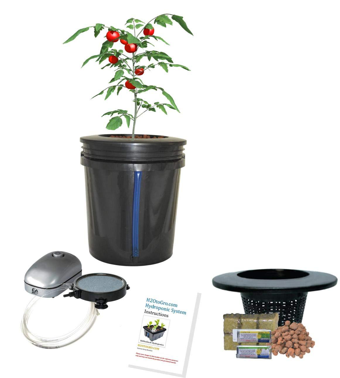 Hydroponic system Complete DWC BUBBLER Bucket Kit 5-gal