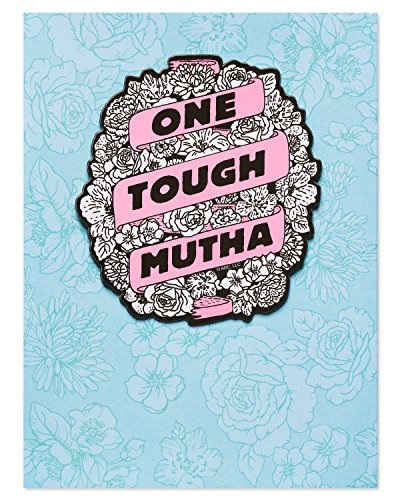 American Greetings Funny Tough Mutha Mother's Day Greeting Card with Magnet ()