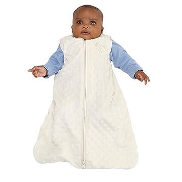 58c6b37e3 Amazon.com: HALO Sleepsack Wearable Blanket, Velboa, Cream Plush Dots,  Large: Baby