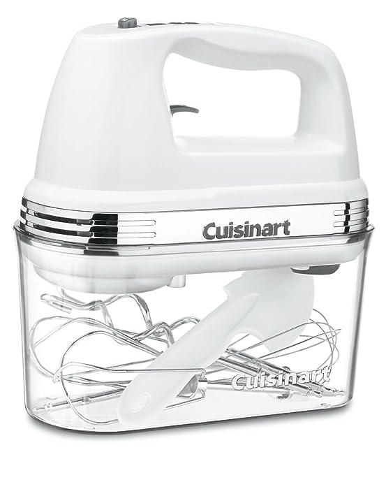 Cuisinart HM-90S Power Advantage Plus 9-Speed Handheld Mixer with Storage Case, White