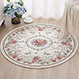 """Cheap Ustide Traditional Oriental Floral Round Area Rugs Romantic Rose Design Rustic Country Floor Rugs 31.5""""x31.5"""""""