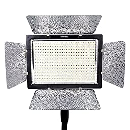 YONGNUO YN900 YN-900 LED Video Light Studio Light for SLR Camera Camcorder Canon Nikon Pentax Olympas + Two Ceaning Cloths For Camera lenses,Screens,Glasses and any other delicate surface