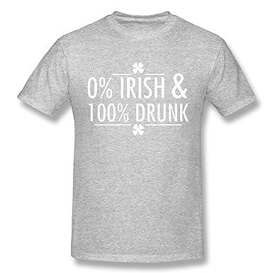 2d589cf54f285 Amazon.com: Jamin Sains Irish-St. Patrick's Day-Drunk Mens T-Shirt ...