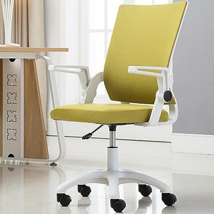 Amazon.com: Office work chair cotton linen material computer ...