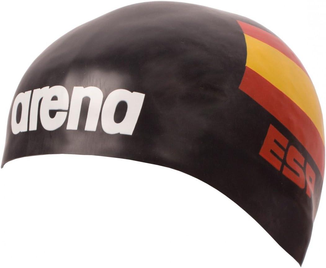 Arena 3d silicona Gorro – Bandera de España – Edición Limitada Reino de España, negro: Amazon.es: Deportes y aire libre