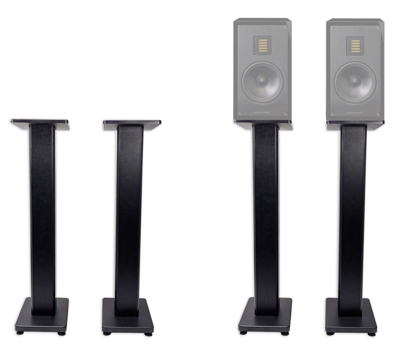 Pair 36'' Bookshelf Speaker Stands For Pair MartinLogan LX16 Bookshelf Speakers