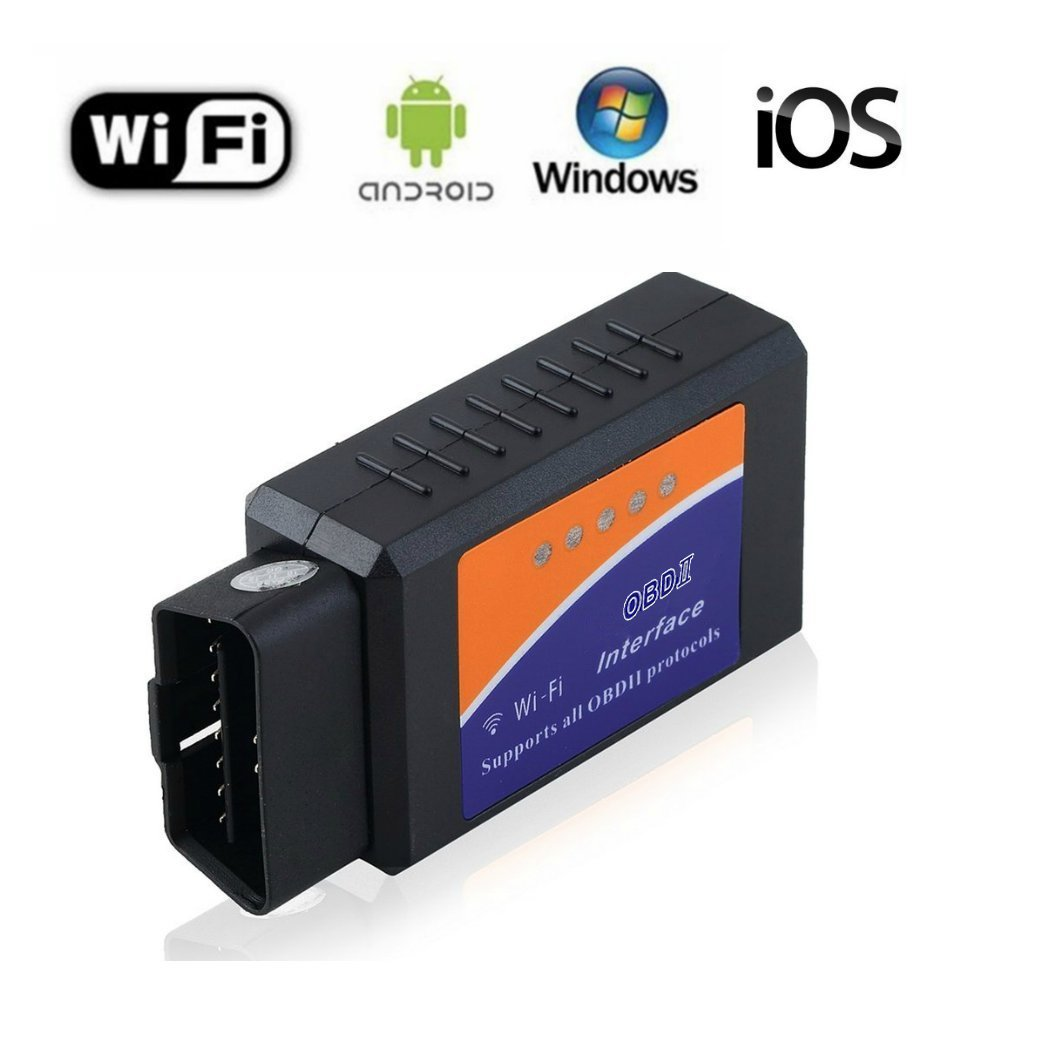 Car OBD 2 OBD2 Scanner ELM327 WIFI Vehicle Fault Code Reader Clear Wireless OBDII Adapter Auto Check Engine Light Diagnostic Scan Tool for iPhone IOS Android Windows Apple for Cars