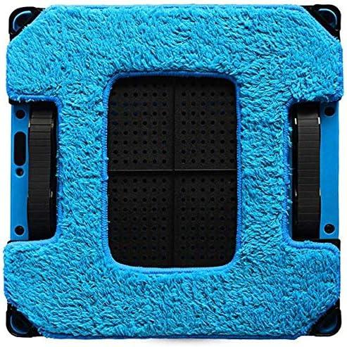 Nettoyage Robot ménagers Smart Automatic Aspirateur Robot fenêtre Balayer machine haute aspiration humide à sec Essuyage Robot Sweeper, Noir KaiKai (Color : Black) Black