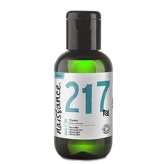 Naissance Aceite de Ricino BIO 60ml - Puro, natural, certificado ecológico, prensado en frío, vegano, sin hexano, no OGM - Hidrata y nutre el cabello, ...
