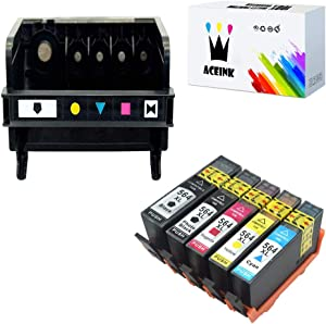 AceInk Compatible 5-Slot HP564 Printhead + 5X HP564XL Ink Cartridges with Latest Chip Work for HP B210b B210c B210d C510a 3521 3522 3526 3070A 5510 5512 5514 4610 Printer
