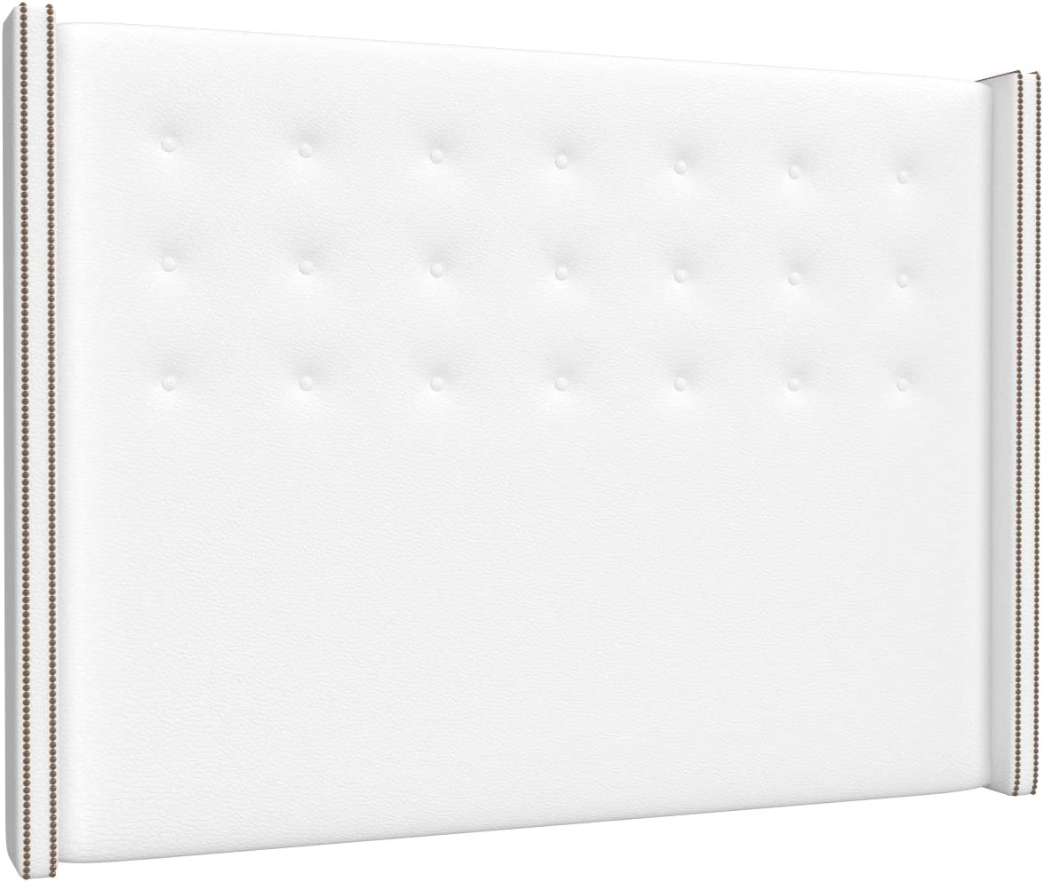 LA WEB DEL COLCHON - Cabecero tapizado California para Cama de 180 (190 x 120 cms) Blanco | Cama Juvenil | Cama Matrimonio | Cabezal Cama |