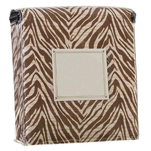 Zebra Cream Brown (Safari Animal Prints 1800 Series 4 Piece Deep Pocket Bed Sheet Set (Twin, Brown and Cream Zebra))