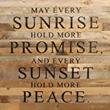 Second Nature By Hand 28 x 28'' Natural Reclaimed Promise Wood Sign, Large