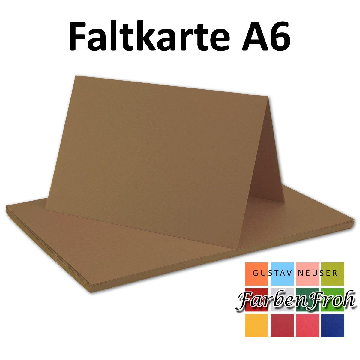 150x Falt-Karten DIN A6 Blanko Blanko Blanko Doppel-Karten in Vanille -10,5 x 14,8 cm   Premium Qualität   FarbenFroh® B076F3BF8H | Won hoch geschätzt und weithin vertraut im in- und Ausland vertraut  96f553