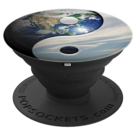 Amazon.com: Yin Yang Pop socket Earth Planet Sky Yoga Symbol ...
