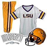 Franklin Sports NCAA LSU Tigers Kids College Football Uniform Set - Youth Uniform Set - Includes Jersey, Helmet, Pants - Youth Medium