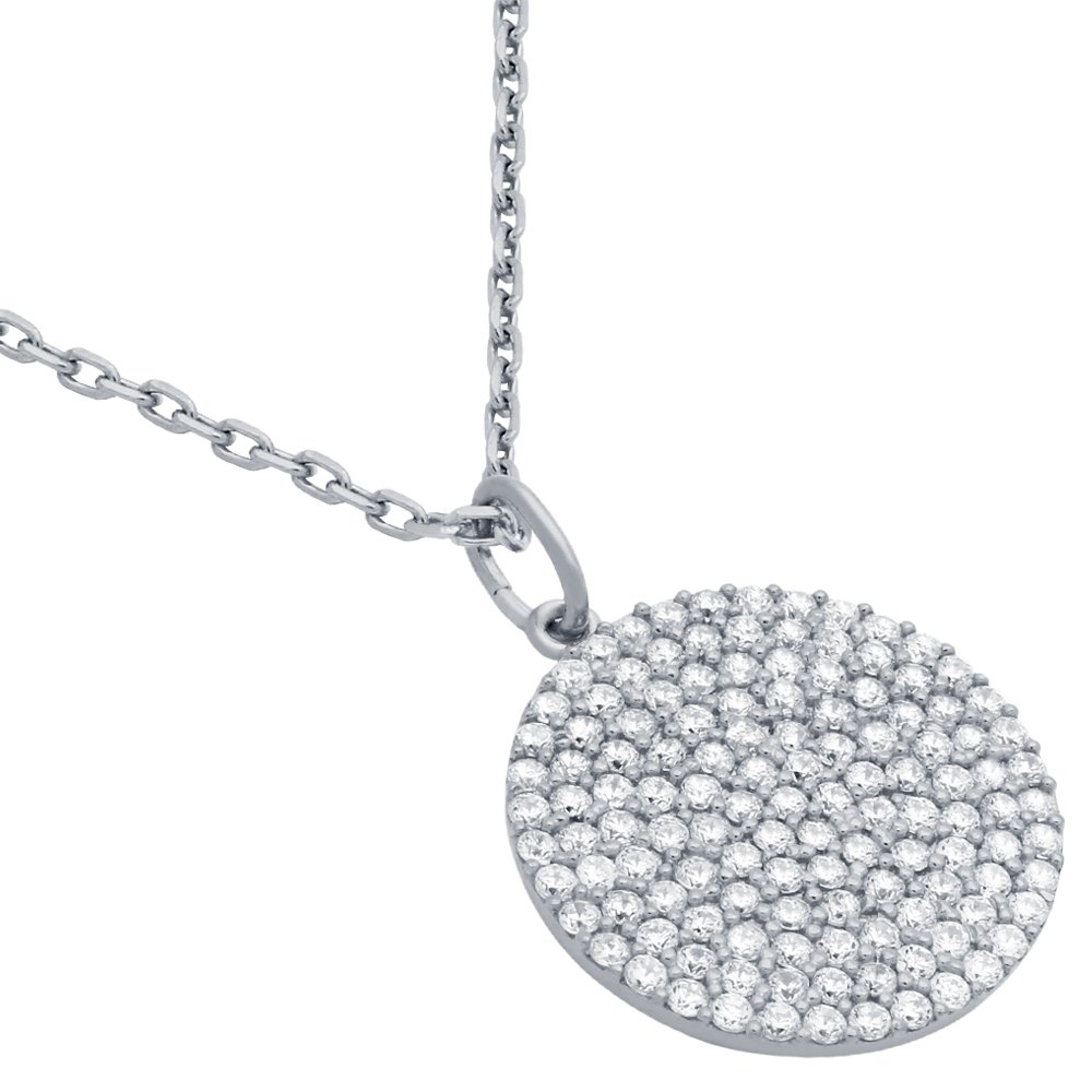 CloseoutWarehouse Simulated Marcasite Pendant Sterling Silver