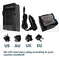 FidgetFidget Battery + Charger for Panasonic CGR-DU06 CGA-DU07 CGA-DU12 CGA-DU14 CGA-DU21